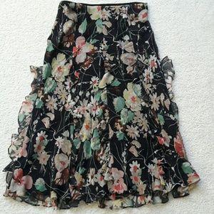 Ralph Lauren 100% silk floral skirt